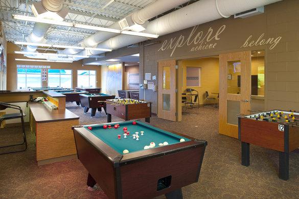 Manchester Boys and Girls Club Interior Billiards room