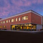 Laconia High School Exterior Dusk