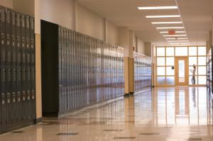 Sanborn Regional HS Hallway
