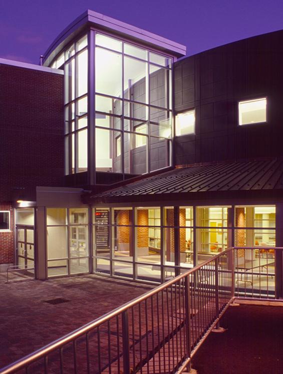 UNH School of Law Franklin Pierce Law Center Exterior Night